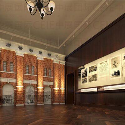 如何形容红色党建馆展厅设计的核心