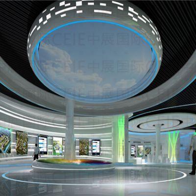 通过哪些手段可以展示企业展馆的主题