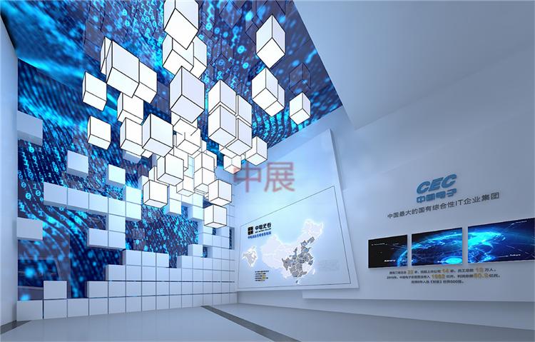 【企业馆设计】企业展示中心_施工效果图